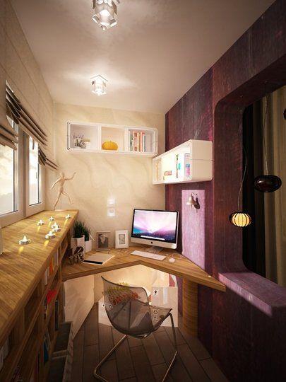 V-corner home office idea