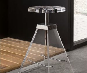 Transparent Bathroom Stool from Toscanaluce