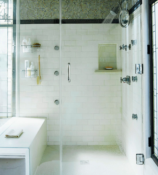 WalkIn Shower Design Ideas That Can Put Your Bathroom Over The Top - Alternative to tiles in shower cubicle