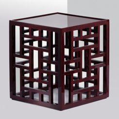 Natori Fretwork Stool