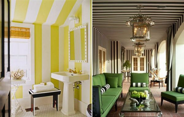 Tips and ideas for a successful striped-ceiling design