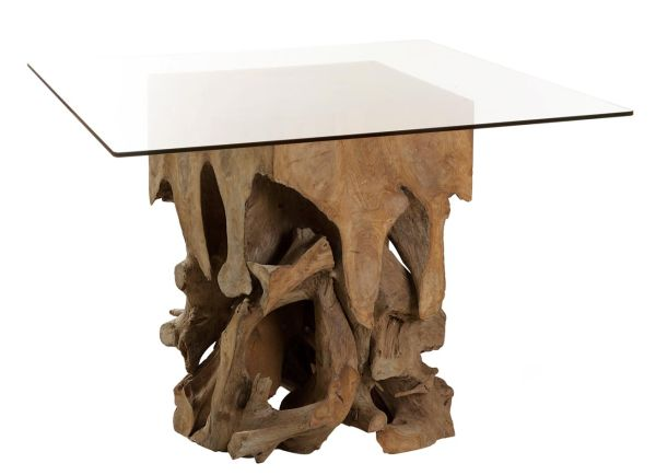 Teak Root Dining Table Made From Reclaimed Materials - Teak root dining table base