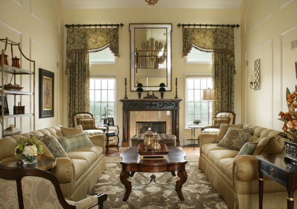 traditional living room2 - Classic Living Room Decoration