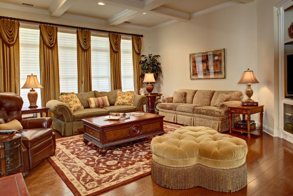 Traditional Living Room Decorating Ideas · View In Gallery A Clean, Elegant  And Classical Living Room With Turquoise Accents View ... Awesome Ideas