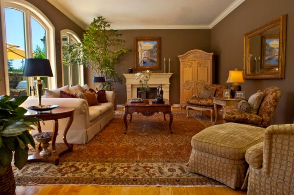 Captivating Traditional Living Rooms Are Usually Complemented By Elegant Wooden  Furniture ...