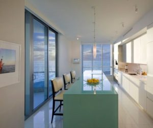 The beauty of having a turquoise kitchen island
