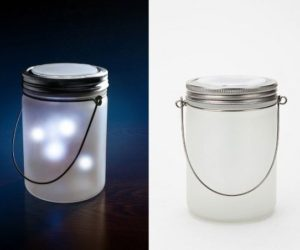 """Jar of fireflies"" lamp"