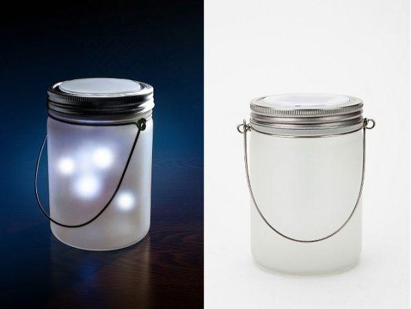 """Jar of fireflies"" lamp"
