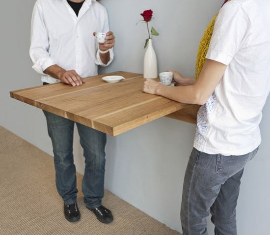 The Ingenious Wall Mounted Table From MASH Studios