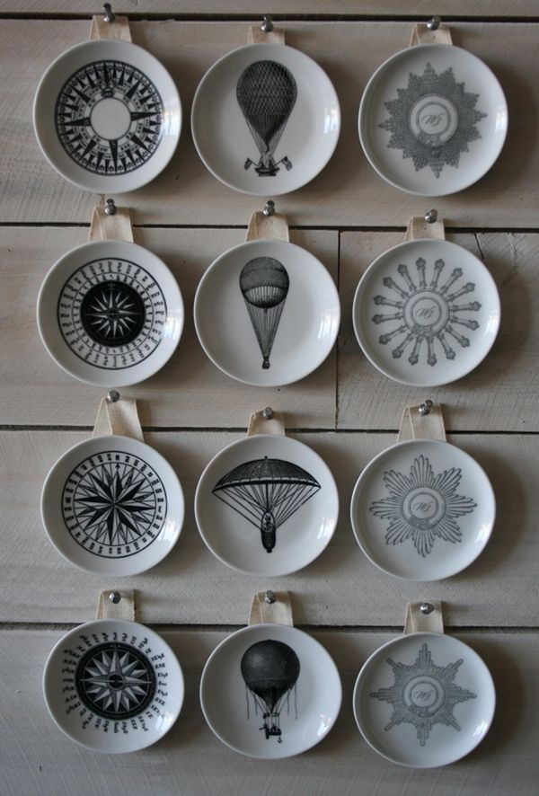 Charming Decorative Vintage Inspired Wall Plates