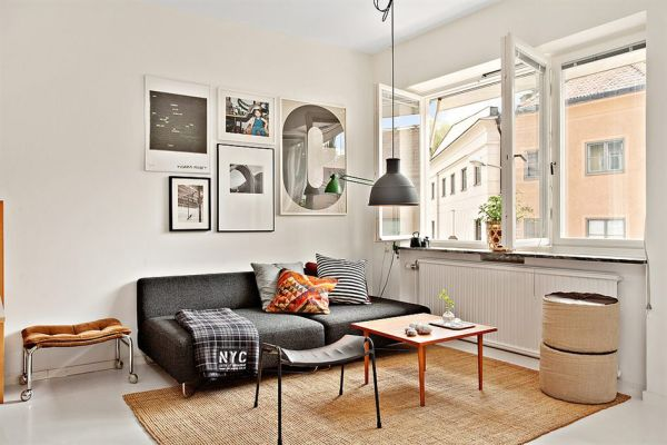 tastefully decorated 35 square foot apartment
