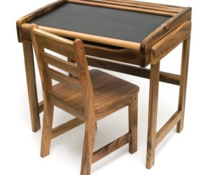 Art Desk With Chalkboard Top And Chair