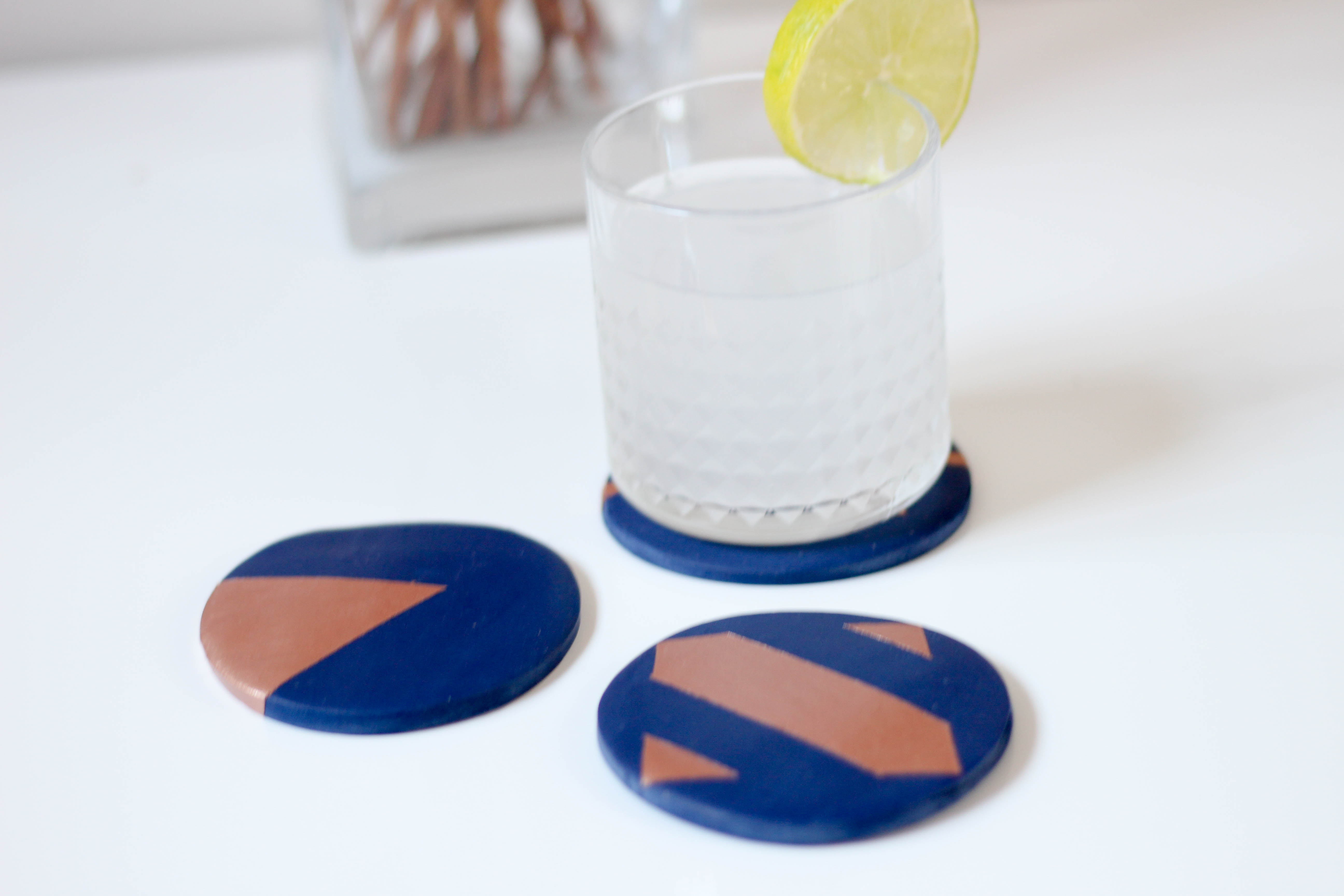Clay coaster diy