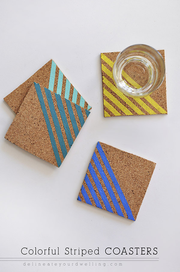 Colorfuk striped coasters