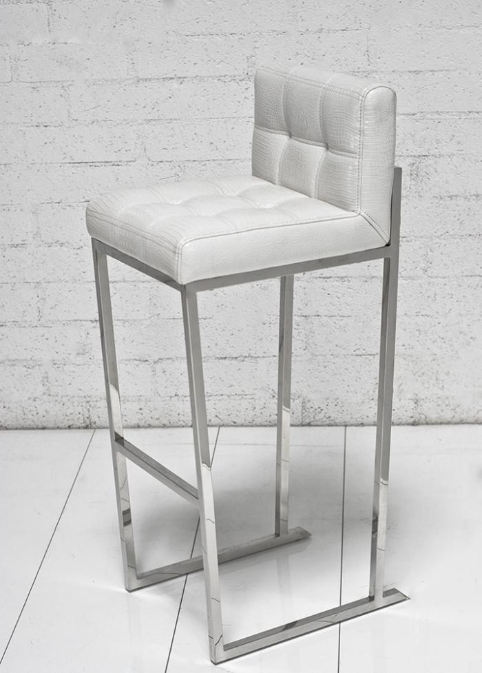 Beautiful White Croc Bar Stool