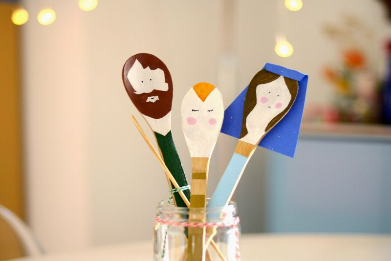 Funny painted spoons