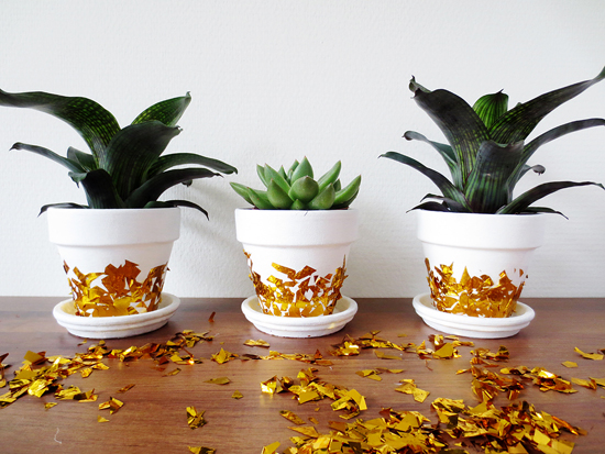 Gold Confetti planter