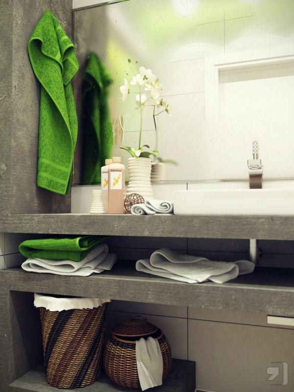Two stylish small bathroom interior designs