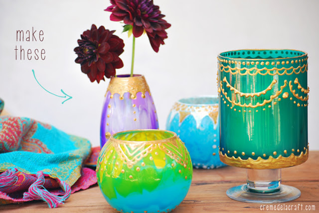 Moroccan candle holders DIY