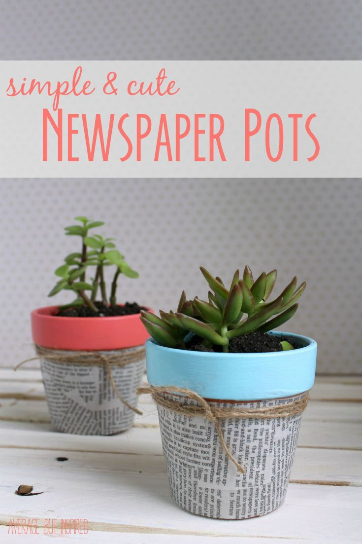 Newspaper Flower Pots