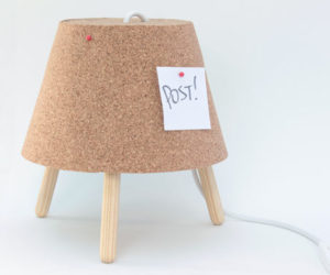 The Luminaire Duo Made From Recycled Cork by Studio Ninho