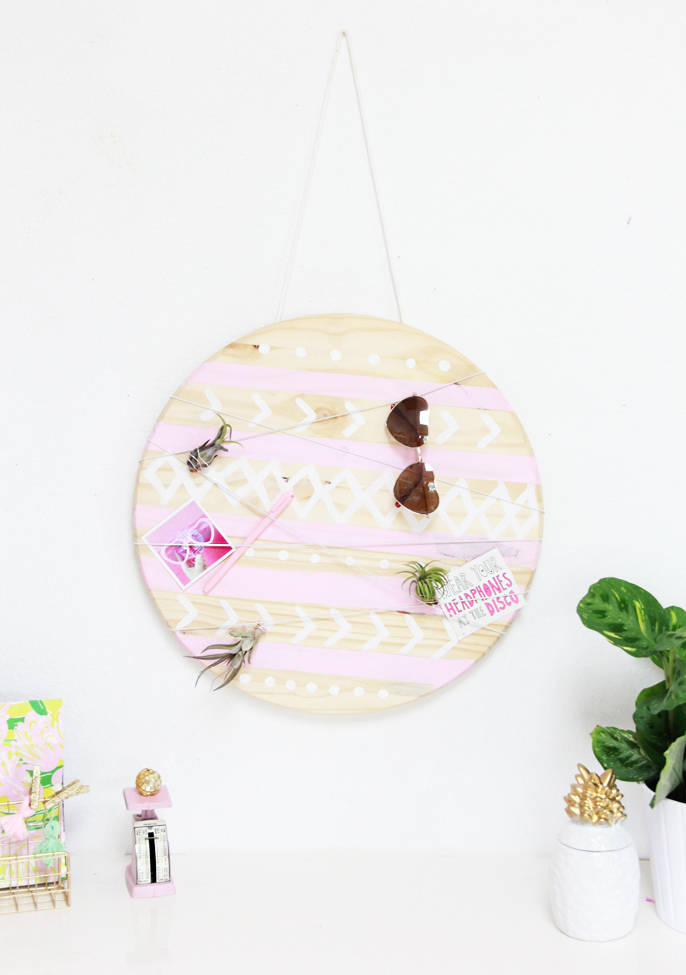 Round mud cloth inspired organizer