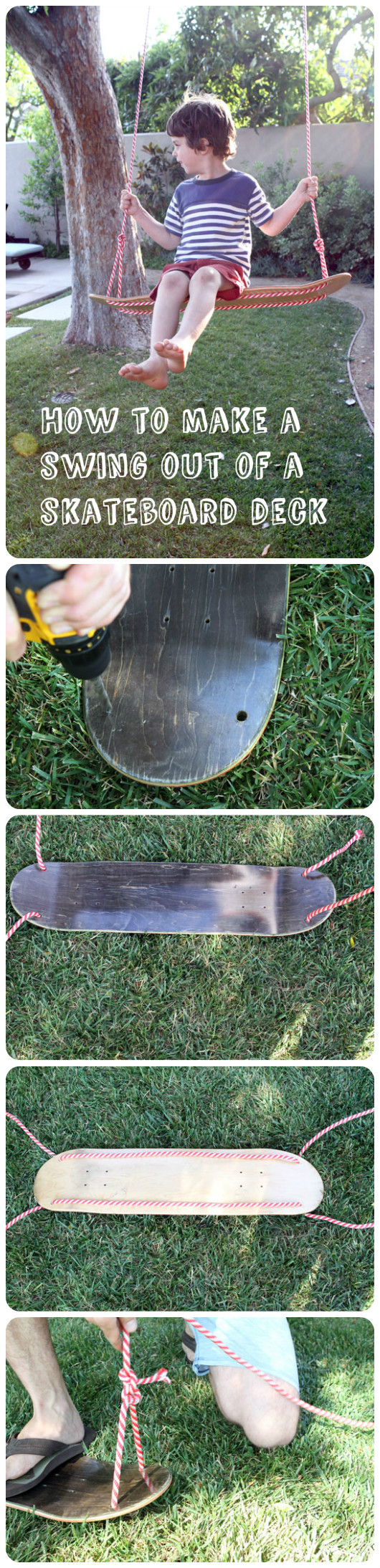 Skateboard deck swing