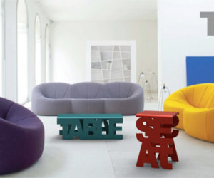 The Creative Typo Furniture Collection by Luiza Boaventura Mendonça