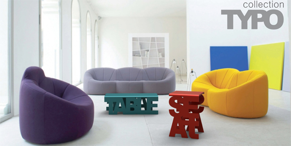 . The Creative Typo Furniture Collection by Luiza Boaventura Mendon a