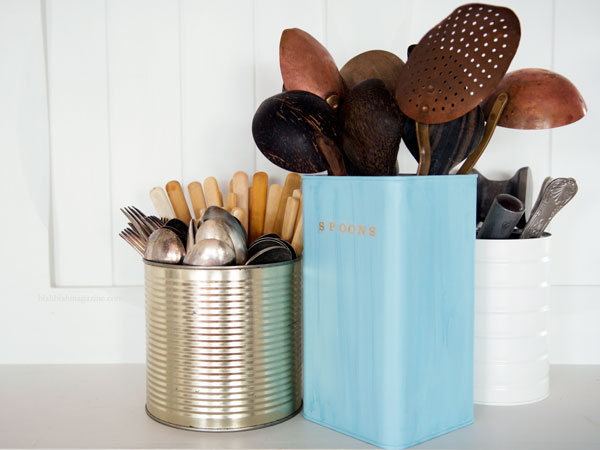 Upcycled utensil holders
