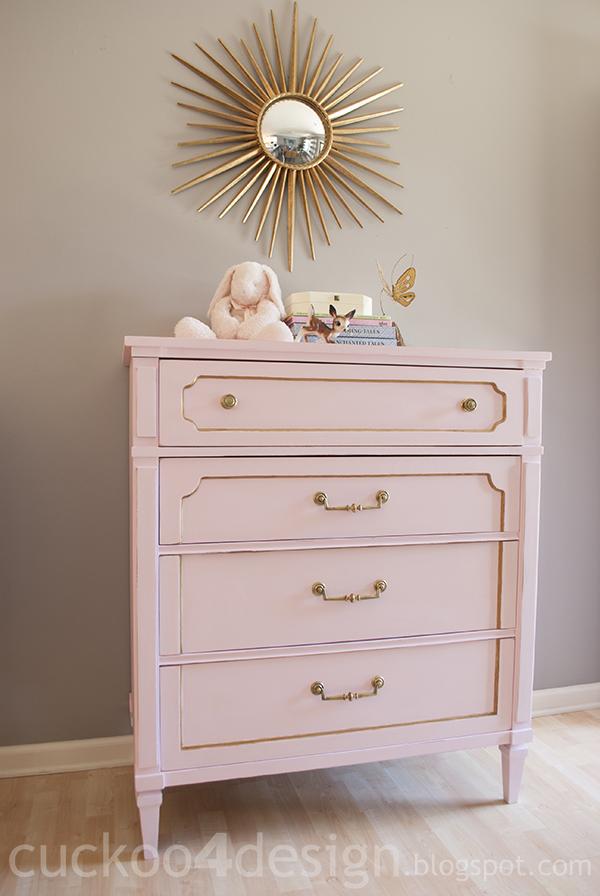 Vintage nursery dresser diy 1