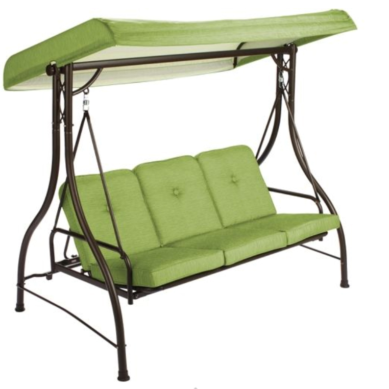 Patio Furniture From Walmart 3 Seat Swing with Canopy