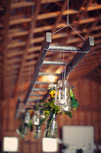 Wedding ladder storage