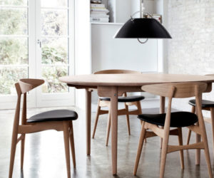 Solid Wood Chair by Hans J. Wegner