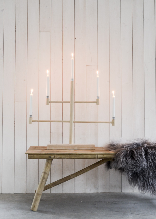 Wood candelabra project