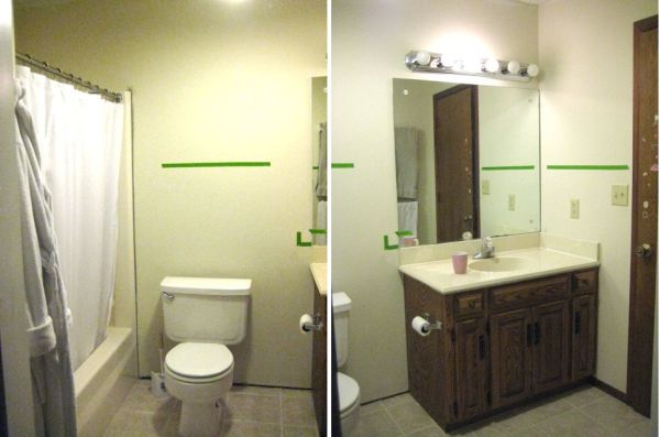 A Complete Bathroom Makeover For Only 500