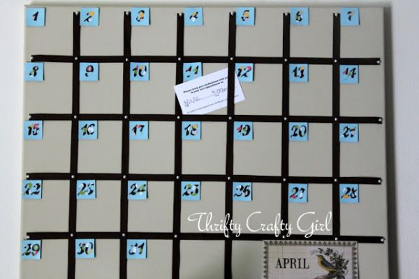 Diy Large Wall Calendar : Easy diy calendar ideas