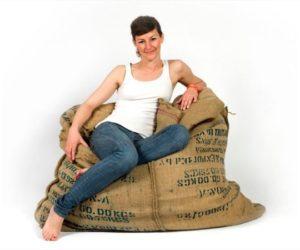 The Coffee Fellow Bean Bag by Johanna Hansson