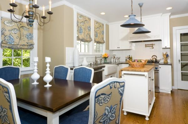 Unique color combinations for the kitchen for Blue and cream kitchen ideas