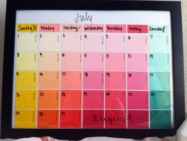 Diy Calendar Frame : Easy diy calendar ideas