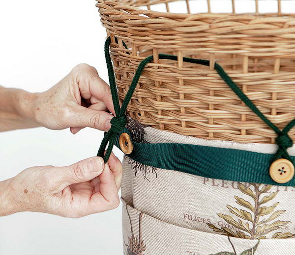 Nice DIY Wicker Basket Case. View In Gallery Design Inspirations