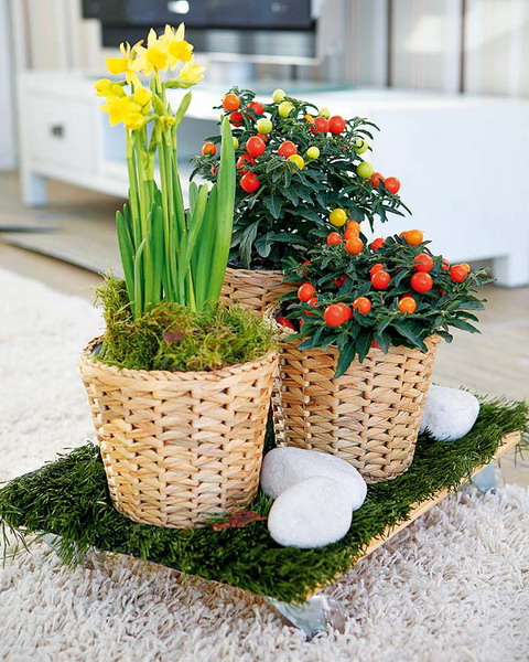 3 diy wicker basket projects - Como hacer macetas de cemento ...