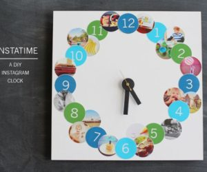 Instatime, a creative DIY Instagram clock