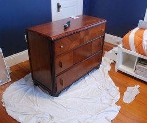 Artistic dresser makeover