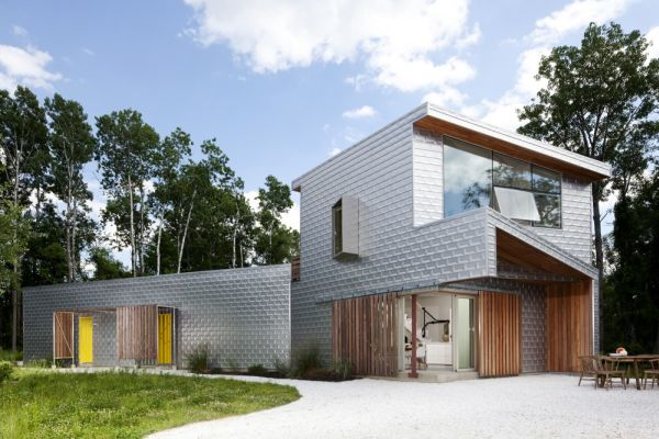 A contemporary country house in ny by grzywinski pons for Modern country house