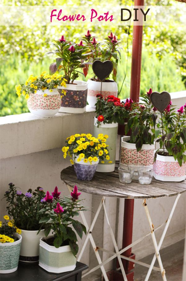 40 Cute Ways To Decorate Your Flower Pots Extraordinary Designs For Pots Decoration