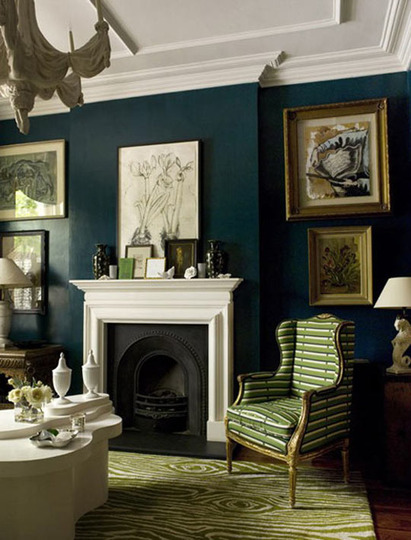 Decorating a hunter green living room - Green living room ideas decorating ...