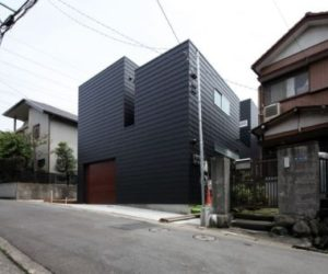 Contemporary black residence in Japan