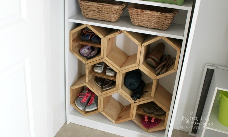 hexagon shoe rack