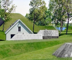 A historic fort turned into a public park in the Netherlands